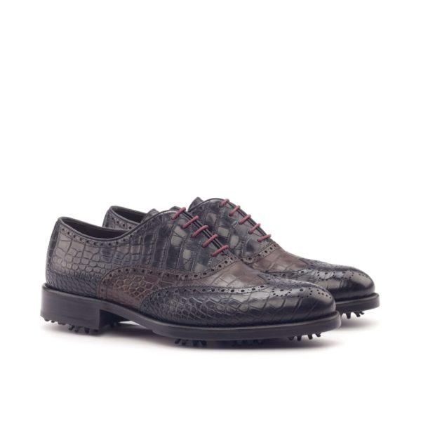 Full Brogue Golf Shoes black & brown NICKLAUS
