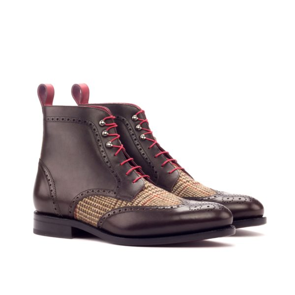 Leather and fabric Brogue boots CREED