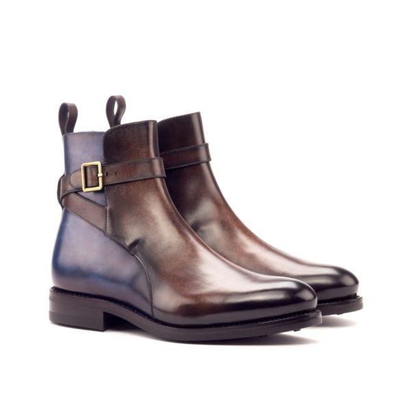 Jodhpur Style Buckle Boots brown blue LION