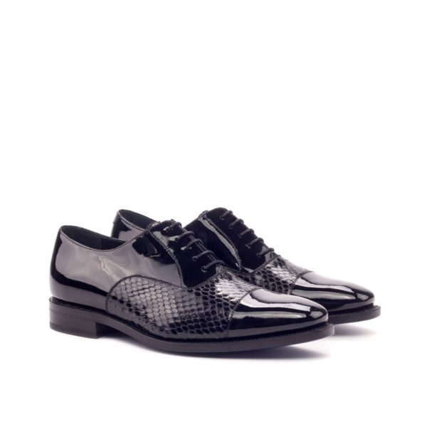 python and patent leather evening shoes ROBERTS