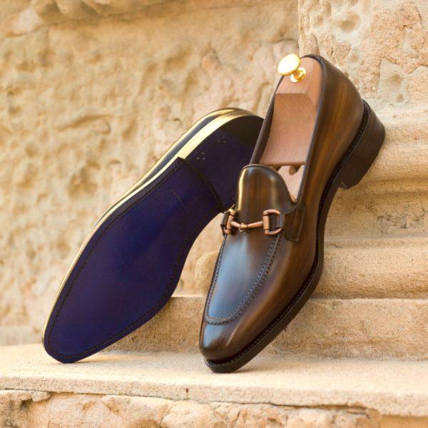 horsebit patina leather Loafers ABANY insitu