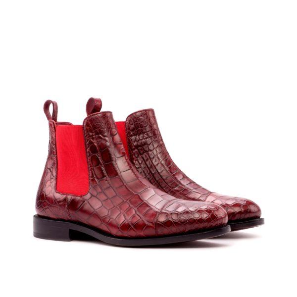 Alligator Chelsea Boots EVERGLADE red