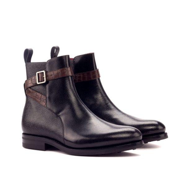 black pebble grain leather Jodhpur boots STEVENS