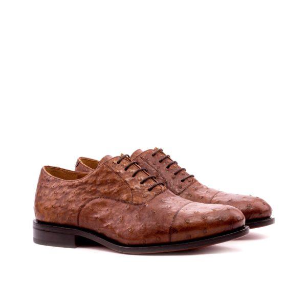 genuine ostrich Oxford shoes brown OSCAR