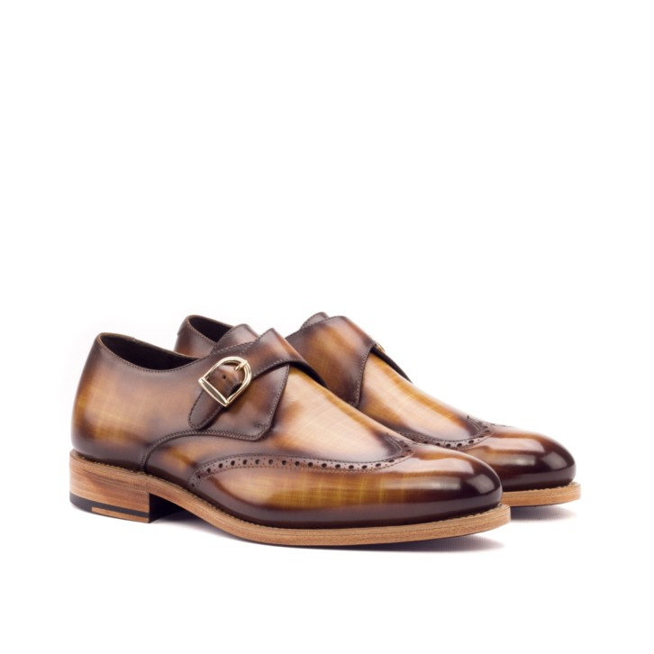 Patina Single Monk Shoes ABSOL