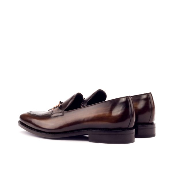 Loafer ABANY brown patina leather rear