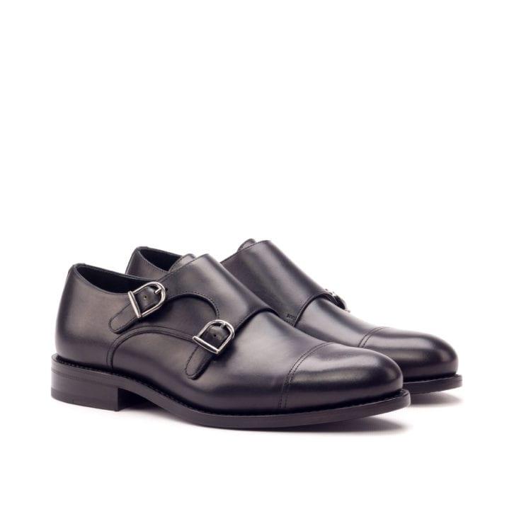 Double Monk Shoes NERO
