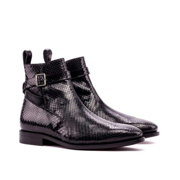 black genuine python leather jodhpur boots ADDLER