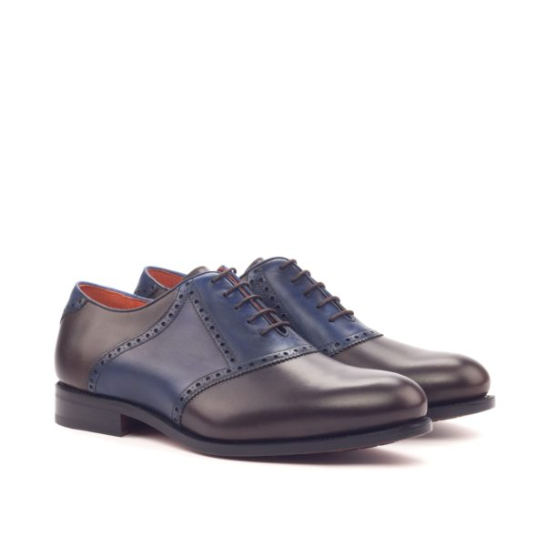 contrast color leather Saddle Shoes BRAVOLA by Civardi