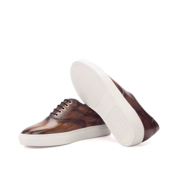 brown leather TopSider trainers for men MARGERA