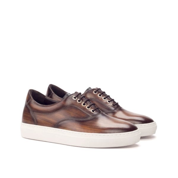 brown Patina leather TopSider trainers MARGERA
