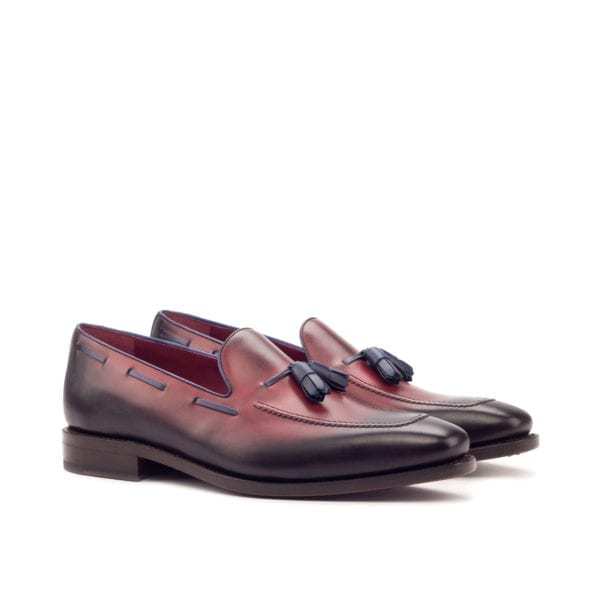 burnished red leather Loafers ABRAHAM