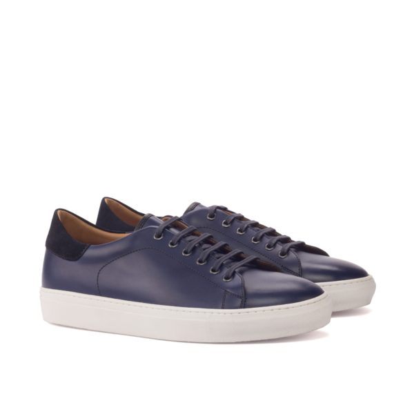 men's navy leather Trainers COSTACURTA by Civardi