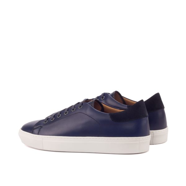 rear navy suede heel detail on men's leather Trainers COSTACURTA