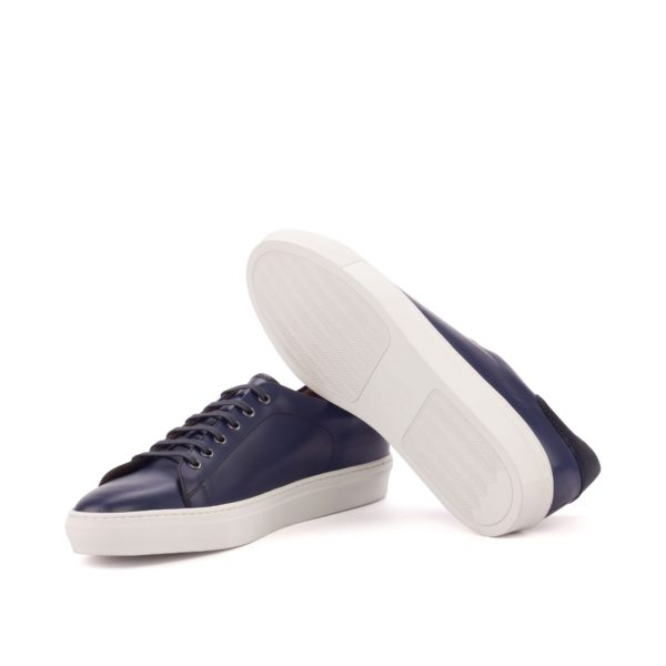 white rubber soles on navy Trainers COSTACURTA