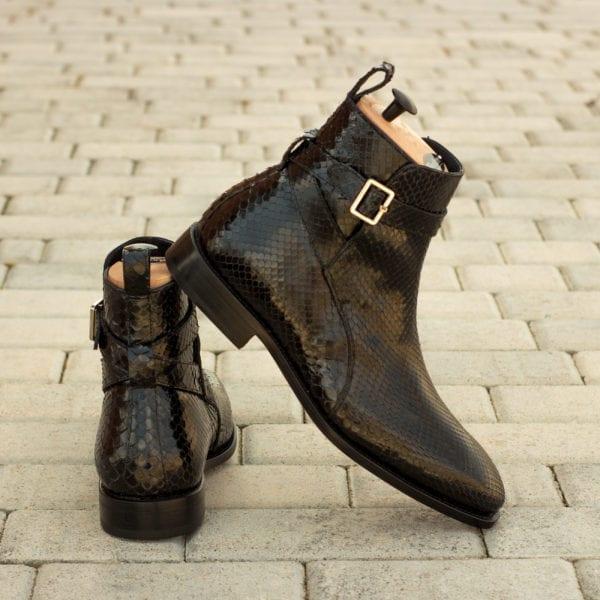 order custom made black Python Jodhpur Boots ADDLER