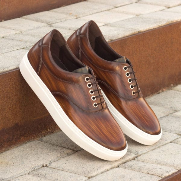 order custom made brown Patina Topsider trainers MARGERA
