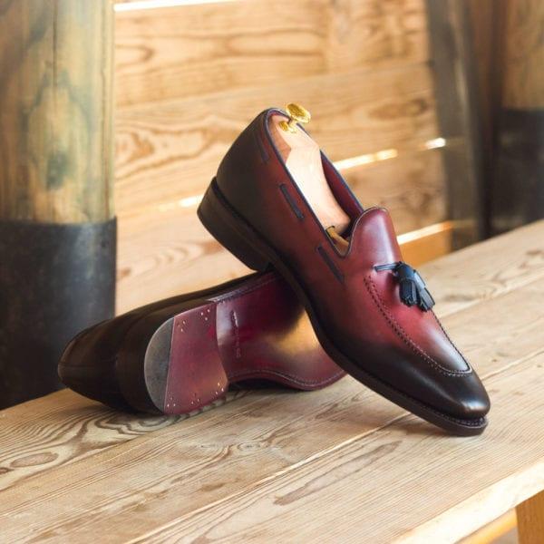order custom made burnished leather Loafers ABRAHAM