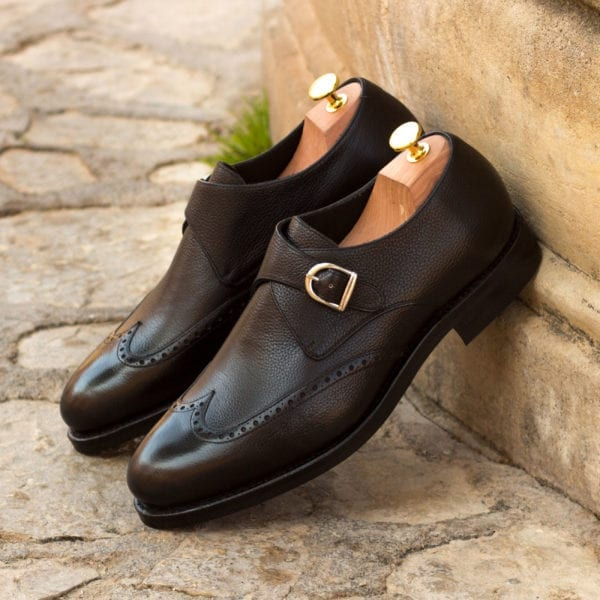 order custom made Single Monk Shoes in full grain leather CRISPIN