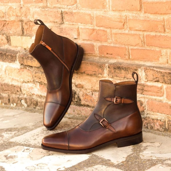 order custom made leather Monk Boots ROMA