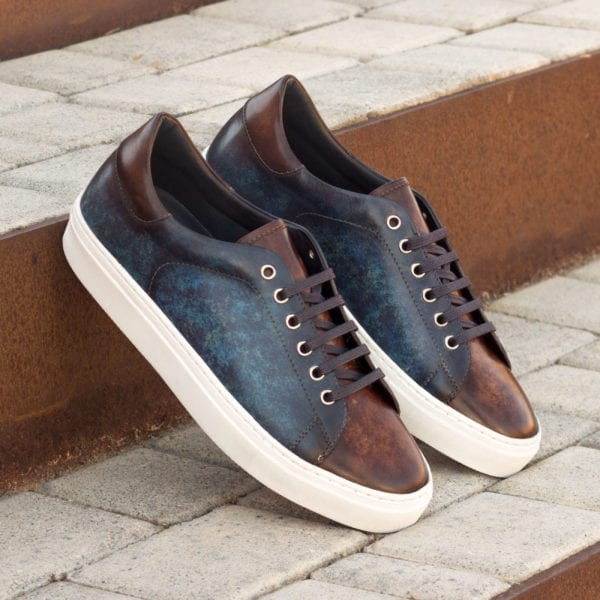 order custom made Patina leather Trainers BARZAGLI
