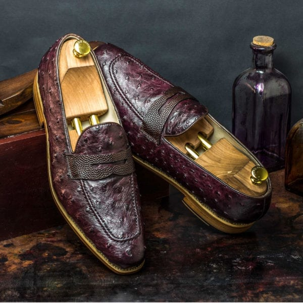 order custom made Ostrich Penny Loafers OSTRO