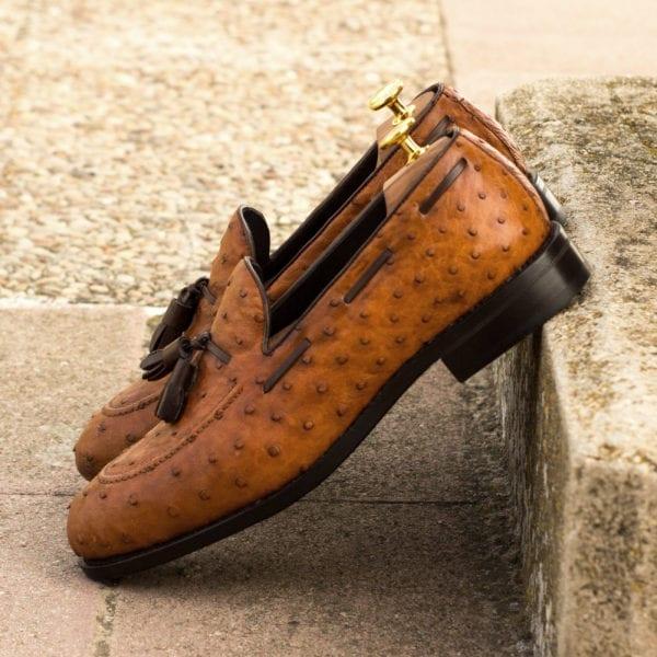 order custom made Ostrich tassel Loafers OSTER