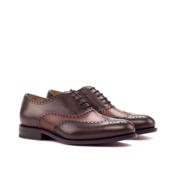 brown leather Oxford brogues DALY by Civardi