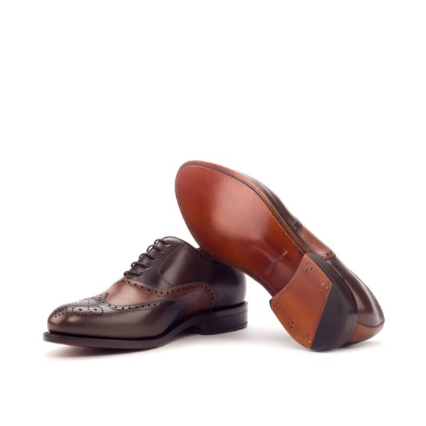 cognac leather soles Oxford Brogue Shoes DALY