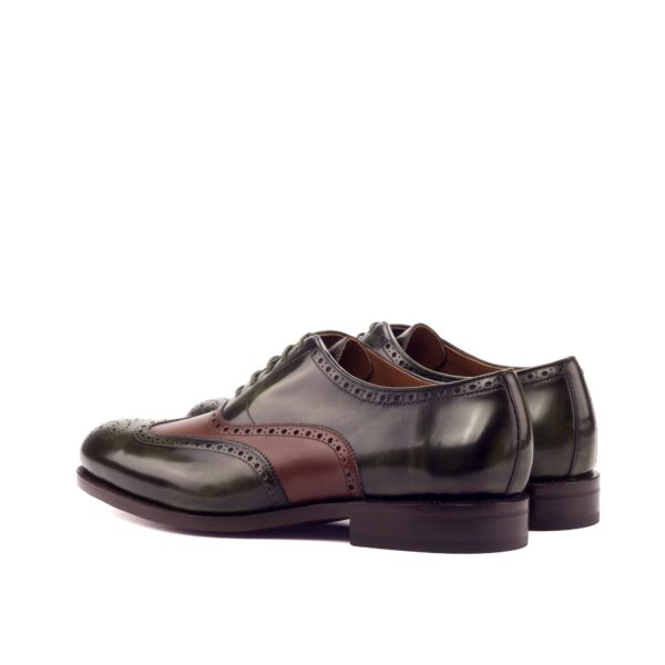 rear heel detail on goodyear welted Brogue Shoes DAWSON