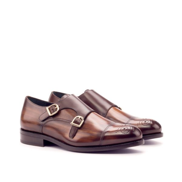 goodyear welt patina leather Double Monks ALMO
