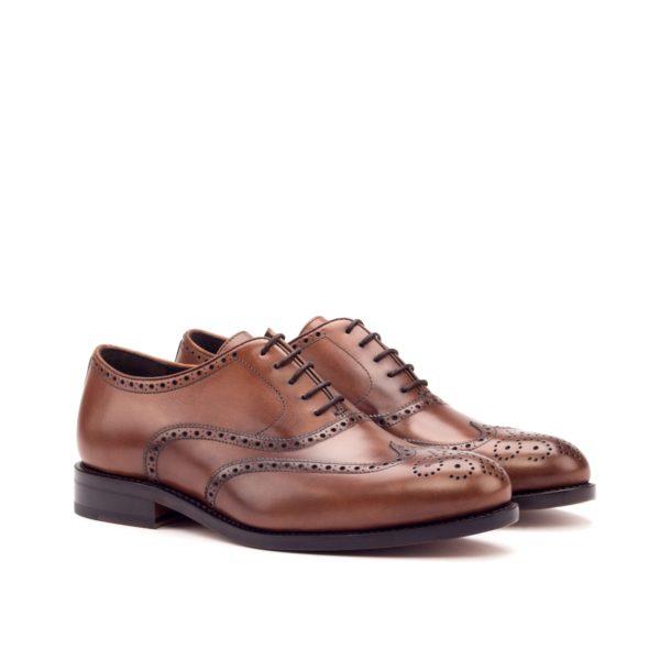 Brown Full Brogue Shoes ARTHUR