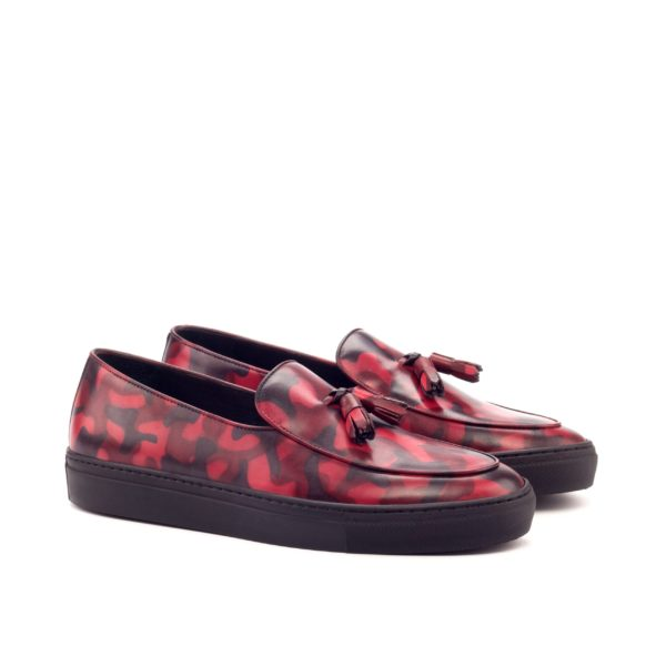 burgundy red camouflage slip on Sneakers ORIGI
