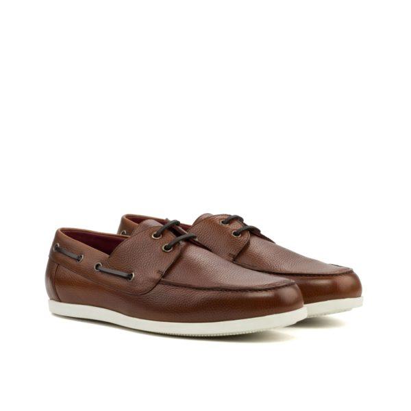brown full grain leather Boat Shoes FAIRLINE by Civardi