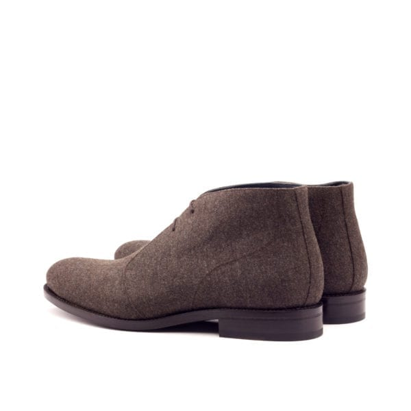 Chukka Boots for men in a brown flannel fabric ADAIR