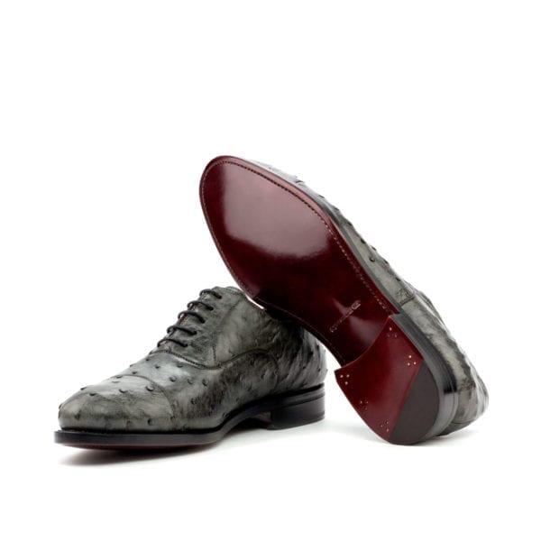 genuine grey Ostrich Shoes OZZY