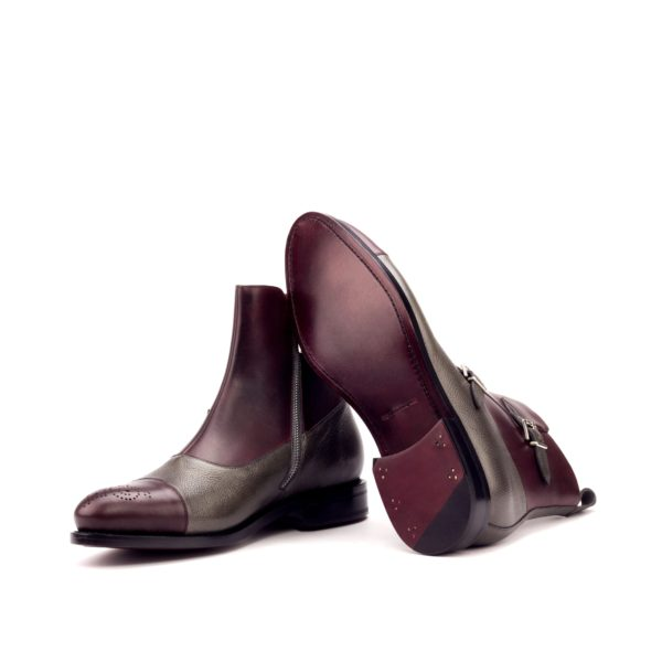 goodyear welted leather monk boots for men VESUVIO