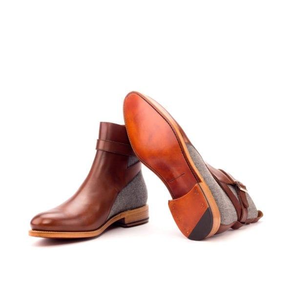 grey and brown Jodhpur Boots BURMO