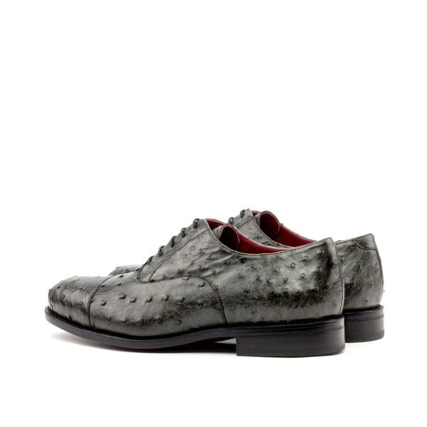 grey Ostrich lace-ups for men OZZY