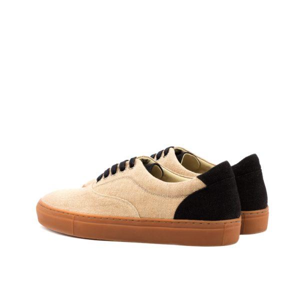 black linen contrast heel on Trainers GUERRERO