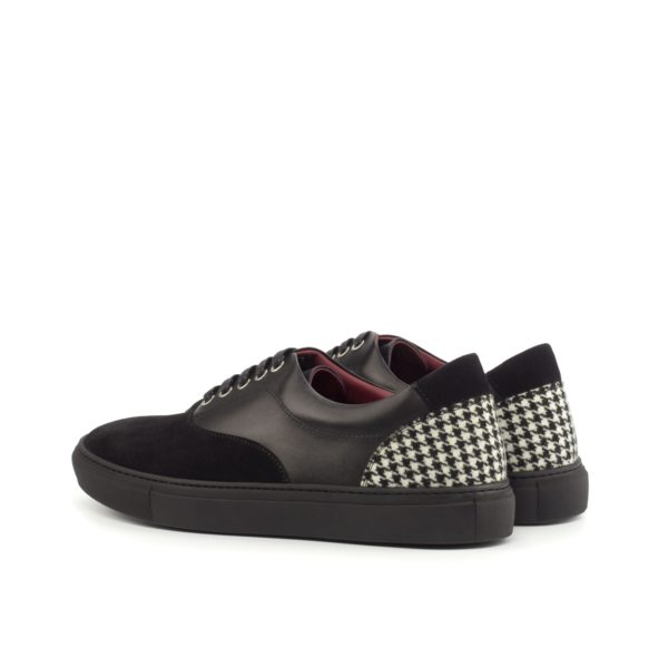 rear houndstooth fabric heel contrast on Topsider Trainers HAWK