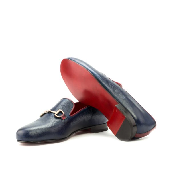 red colored fine leather slipper soles INKWELL
