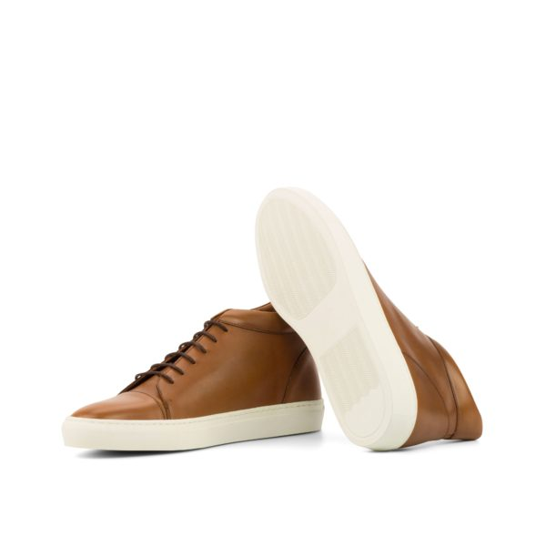 white rubber soles on tan leather Hi-Tops JACKSON