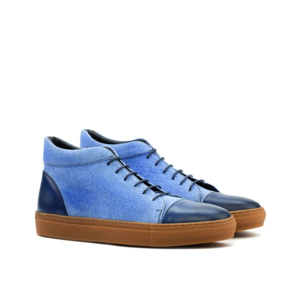 pale blue linen Hi-Tops MALONE by Civardi