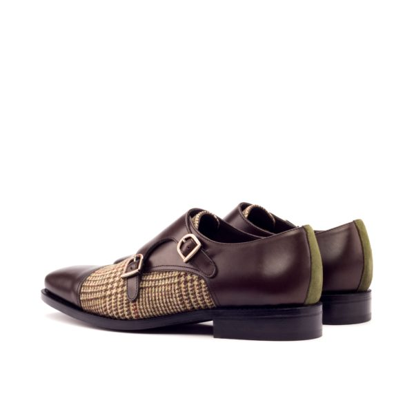rear heel detail and copper buckles Double Monk Shoes MANTUA