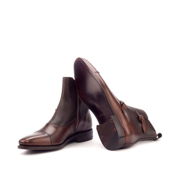 men's leather Double Monk Boots ROMA
