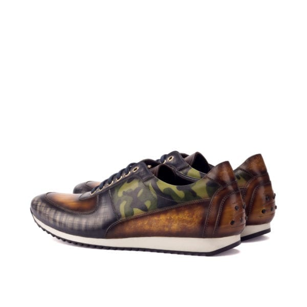 multi colored patina leather trainers EDWIN