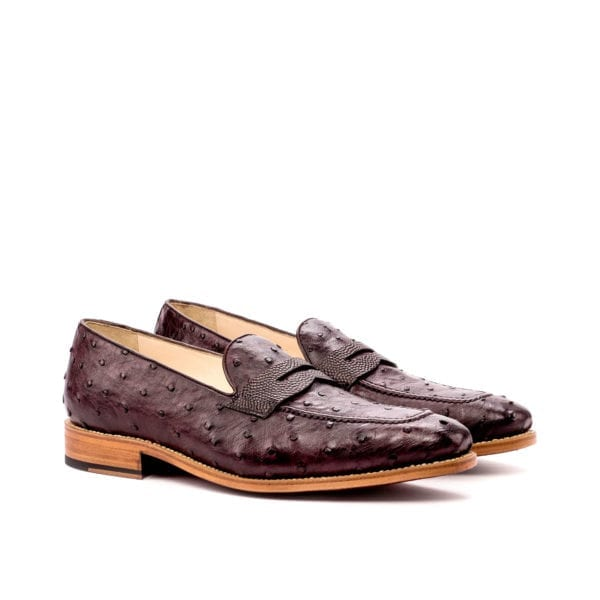 genuine Ostrich Penny Loafers for men OSTRO