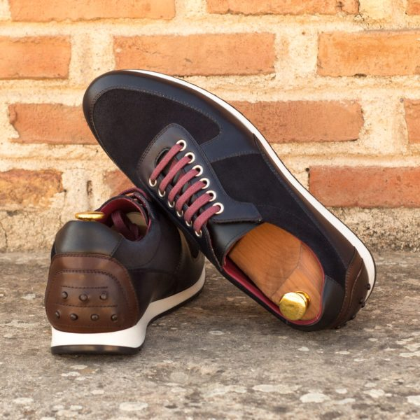 suede and leather luxurious mens Trainers PEDRO