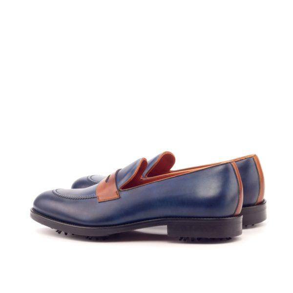 contrast heel strip on navy slip-on Loafer Golf Shoes PLAYER